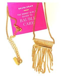 Baublebar 14k gold waterfall necklace